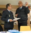 Präsentation des Ehrenzeichens des Feuerwehrverbandes