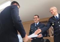 Beförderung Jan-Philip Dieckmann zum Oberfeuerwehrmann