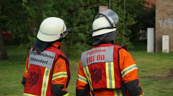Brandbekämpfungsübung Fachzug 80